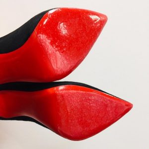Red sole transparent protective film